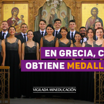 En Grecia, Coro Unab obtiene medallas de oro
